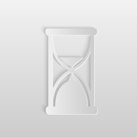 Illustration of an hourglass against a gray background. 向量圖像
