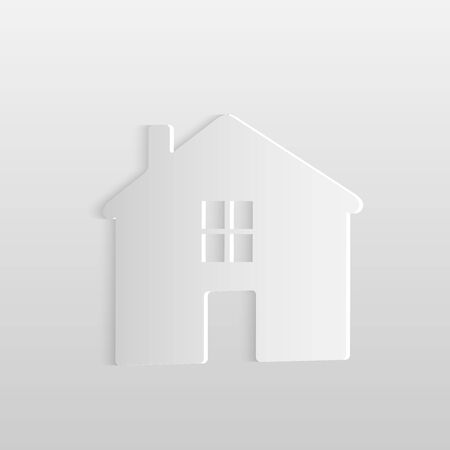 modern house: Illustration of a paper house isolated on a light background.