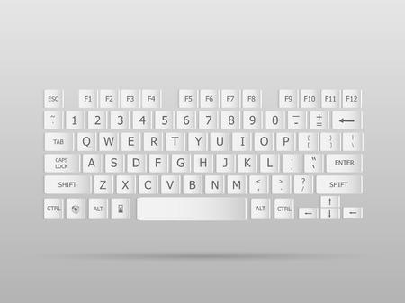 escape key: Illustration of a keyboard floating on a grey background.