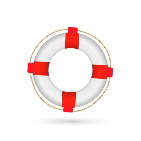 preserver: Illustration of a life preserver isolated on a white background.
