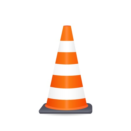 traffic cone: Illustration of a safety cone isolated on a white background.
