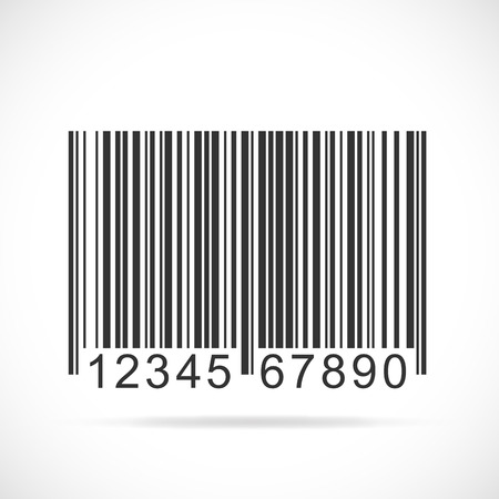 Illustration of a barcode isolated on a white background. Vector