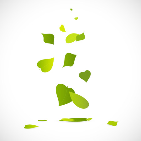 Illustration of a falling leaves isolated on a white background.