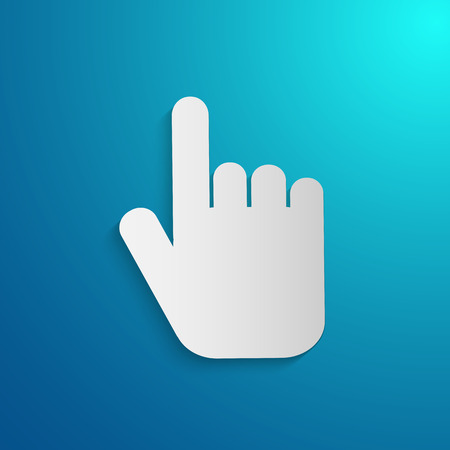 hover: Illustration of a hand pointing on a colorful blue background.