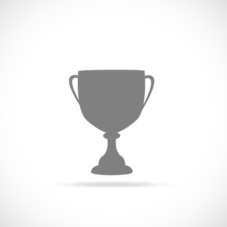 Illustration of a trophy silhouette isolated on a white background. Çizim