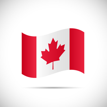Illustration of the flag of Canada isolated on a white background.