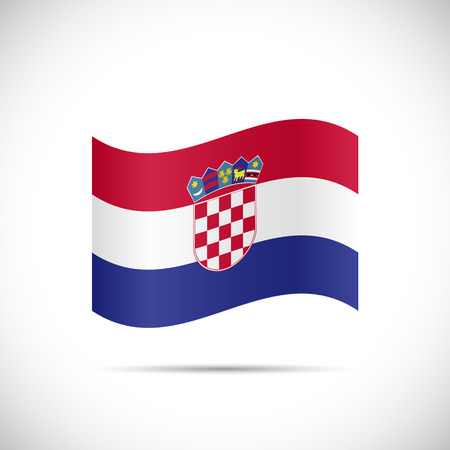 Illustration of the flag of Croatia isolated on a white background.
