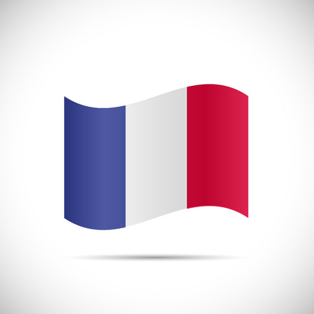 french flag: Illustration of the flag of France isolated on a white background.