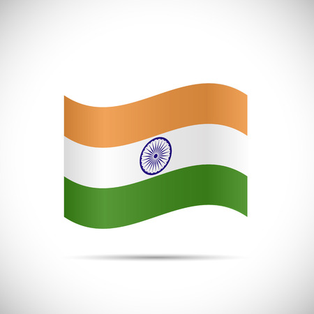 tricolour: Illustration of the flag of India isolated on a white background.