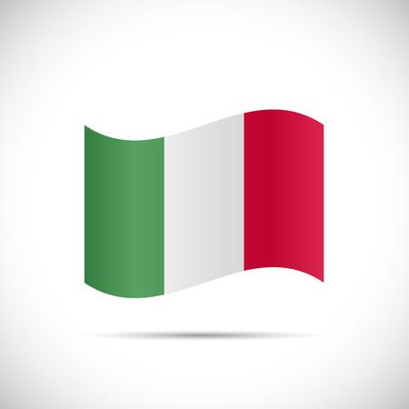 bandera italiana: Ilustraci�n de la bandera de Italia aislado en un fondo blanco.
