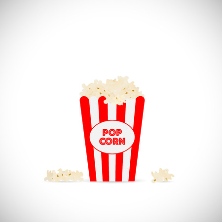 movie and popcorn: Illustration of movie popcorn illustration isolated on a white background. Illustration