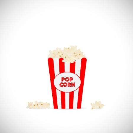 movie popcorn: Illustration of movie popcorn illustration isolated on a white background. Illustration