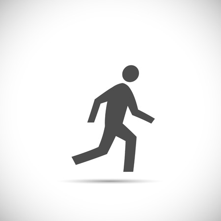 Illustration of a running figure isolated on a white background. Vector