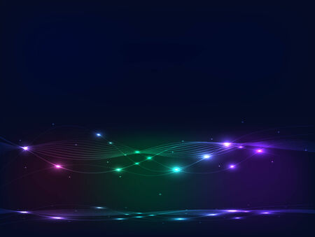 Illustration of a colorful abstract glow background. Vector