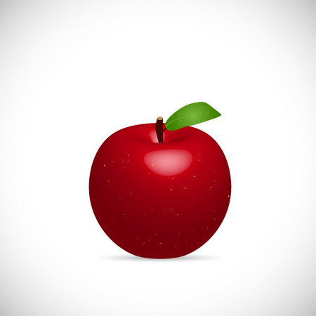 Illustration of an apple isolated on a white background.