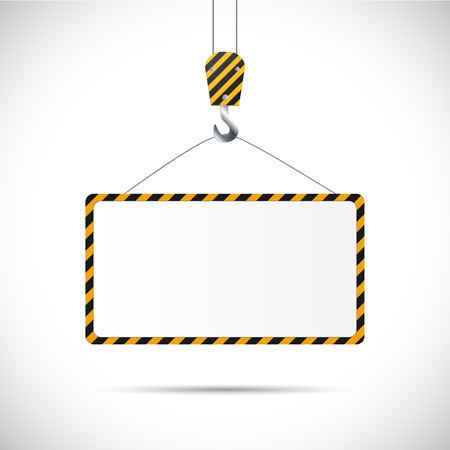 construction crane: Illustration of a construction road sign isolated on a white background.