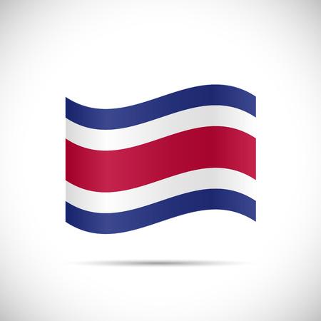 bandera de costa rica: Ilustración de la bandera de Costa Rica aislado en un fondo blanco.