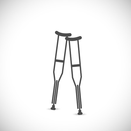 group therapy: Illustration of two crutches isolated on a white background.