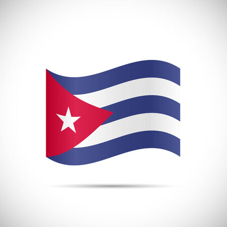 cuban flag: Illustration of the flag of Cuba isolated on a white background. Illustration