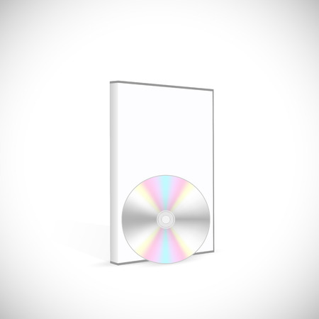 dvd case: Illustration of a blank DVD case isolated on a white background.