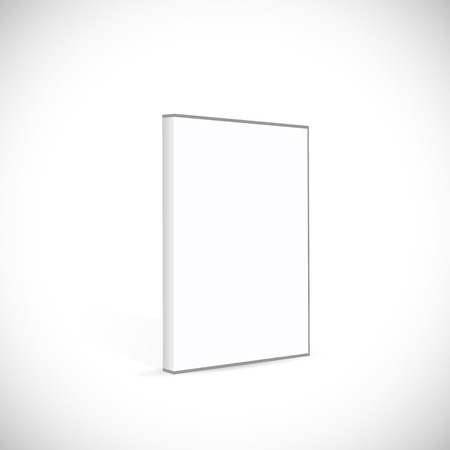 case: Illustration of a blank DVD case isolated on a white background.