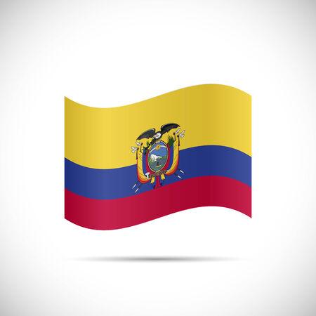 ecuador: Illustration of the flag of Ecuador isolated on a white background.
