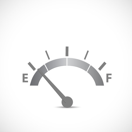 empty tank: Illustration of a gase gage silhouette isolated on a white background.