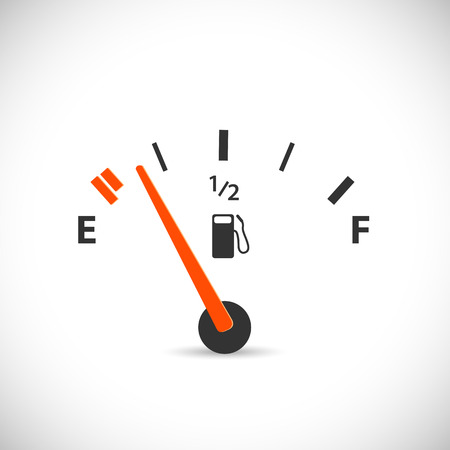 fuel crisis: Illustration of a gas gage isolated on a white background. Illustration