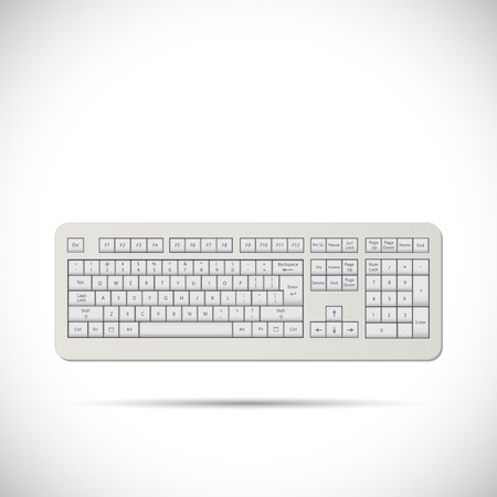 escape key: Illustration of a keyboard isolated on a white background.