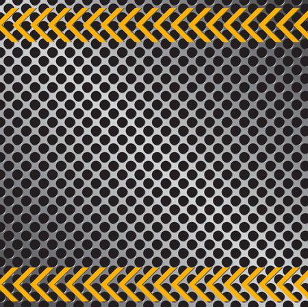 Illustration of a metallic pattern background texture. Ilustração