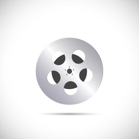 Illustratie van een film reel geïsoleerd op een witte achtergrond.