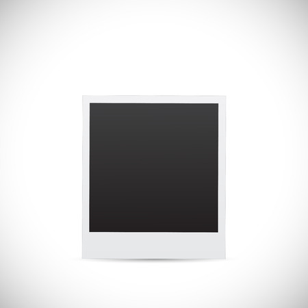 Illustration of a blank photo design isolated on a white background.