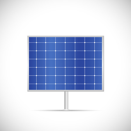 Illustration of a solar panel isolated on a white background. 向量圖像