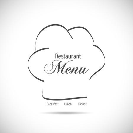 Illustration of a restaurant logo design isolated on a white background. Ilustracja