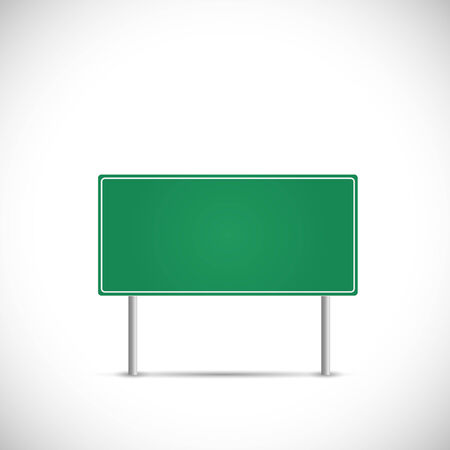metaphors: Illustration of a blank road sign isolated on a white background.
