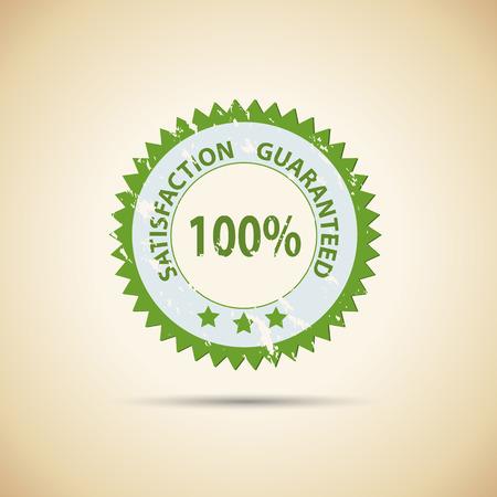 satisfaction guaranteed: Illustration of a vintage satisfaction guaranteed seal. Illustration