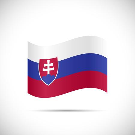 slovakian: Illustration of the flag of Slovakia isolated on a white background. Illustration