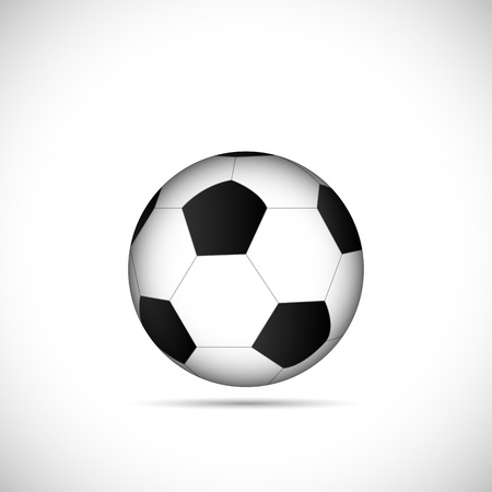 Illustration of a soccer ball isolated on a white background.