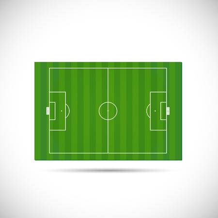 hovering: Illustration of a soccer field hovering isolated on a white background.