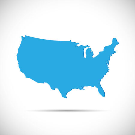 Illustration of the map of the United States of America isolated on a white background. Vector