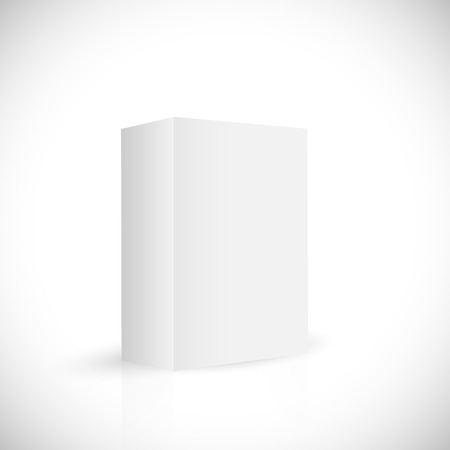 Illustration of a blank white box isolated on a white background. Illustration