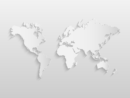 details: Illustration of a world map on a paper background.