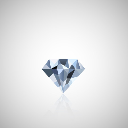 Illustration of a colorful diamond against a light background. 向量圖像