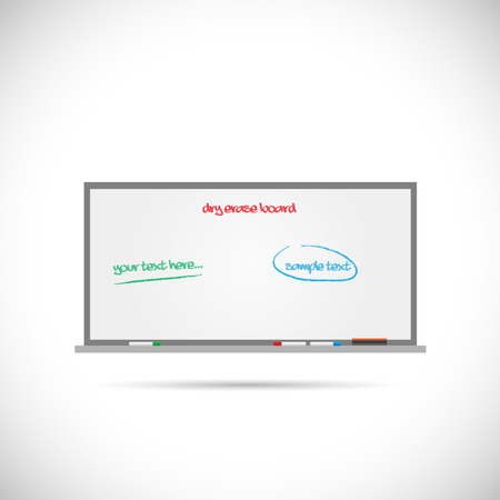 dry erase: Illustration of a dry erase whiteboard isolated on a white background. Illustration