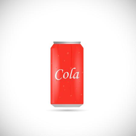Illustration of an aluminum cola can isolated on a white background.
