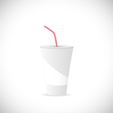 flick: Illustration of a soda fountain drink isolated on a white background.