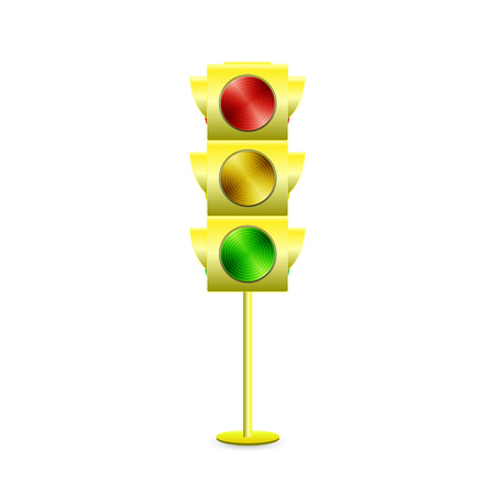 Illustration of a traffic light isolated on a white background.