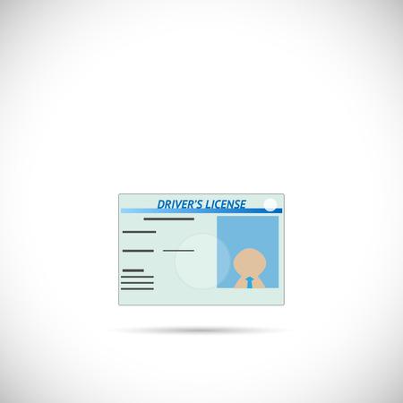 Illustratie van een rijbewijs die op een witte achtergrond.
