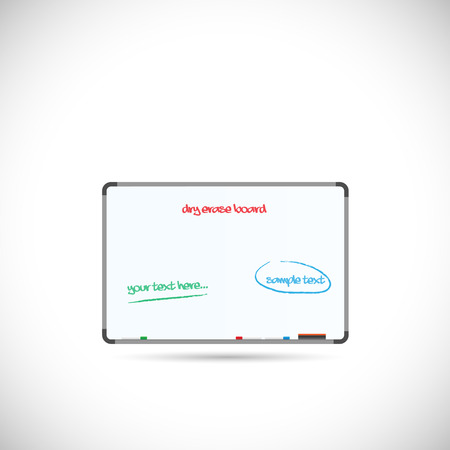 Illustration of a dry erase board isolated on a white background. Illustration