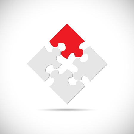 Illustration of an abstract puzzle design isolated on a white background.